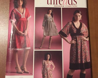 Simplicity Sewing Pattern 0614 Misses Pullover Dress With Bodice, Skirt and Trim Variations Size 8-16