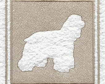 Cocker Spaniel Embossed Style Embroidered Flour Sack Hand/Dish Towel