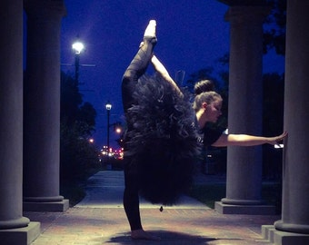 """Solid Black Adult Tutu for waist up to 34 1/2"""" great for Halloween, Birthdays, Dance and Bachelorette parties"""