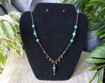 Bright Blue Apatite Necklace