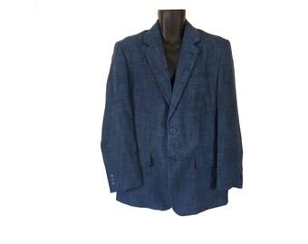 Vintage 80s Sport Coat 80s Sports Jacket Blue Blazer Men 80s Blazer Men Suit Jacket Men Sportcoat 1980s Clothing Men Retro Clothing