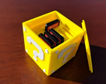 8 Game Nintendo Switch Question Block Cartridge Case
