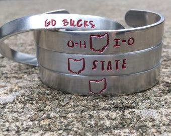 Ohio State Bracelet, Go Bucks, Buckeyes