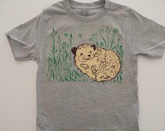 KIDS Hedgehog T-shirt, Size XS-XL