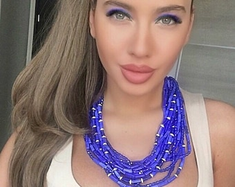 "Necklace ""Blue Lights"""