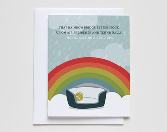 Rainbow Bridge Pet Loss Sympathy Card #048.