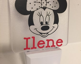 Personalized Minnie Mouse LED Nightlight