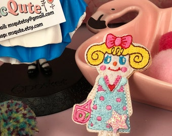 Mini Qute Collection - Cute girl series ~ Little Ms polka dots - 1 pc