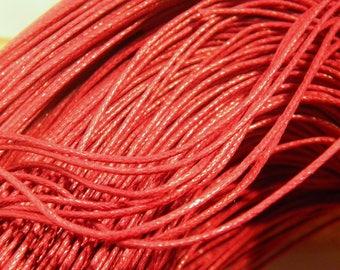 10 meter of cotton yarn, 1 Burgundy 4 mm