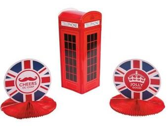 British party/ British/ British birthday/ British party favors/ British  centerpiece/ British party supplies /British decorations  /
