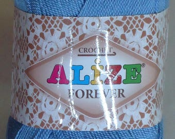 300g ALIZE FOREVER a soft and silky Crochet Yarn, beautiful microfibre yarn in good choice of lovely colours,ideal for crocheting.