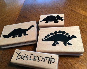 Dinosaur stamps - set of 4