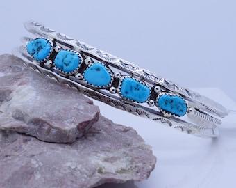 Handmade Navajo Sterling Silver 925 cuff bracelet adjustable Large Men's