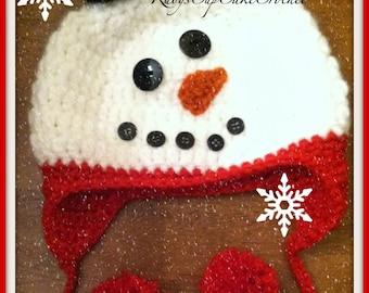 Snowman Winter Hat - Frosty the Snowman Hat - Baby Snowman Hat - Kids Snowman Hat - Any Size and Color