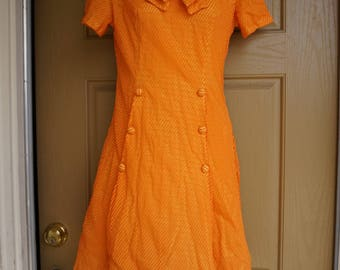 Vintage 1960s mid length dress hand made Medium 9