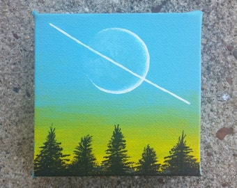 Sci-fi Planet Painting