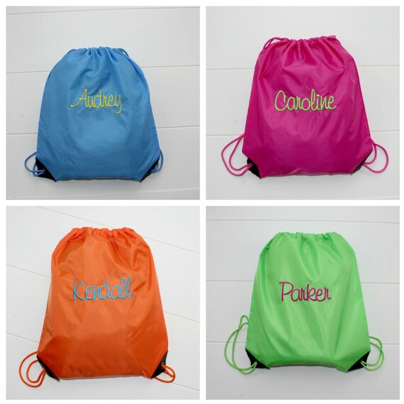 personalized cinch sack backpack and tote bags back to school