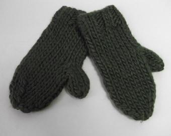 Chunky Handknit Mittens
