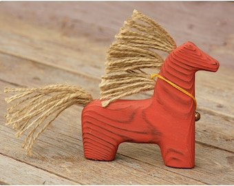 Wonderful Red Horse -- Wooden Toy Horse -- Interior toy