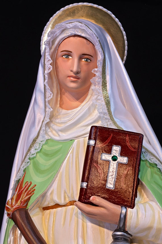 """St. Martha 26"""" Patroness of hospitality, domestic work & cooks."""