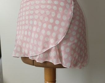 Dance, pink polka dot skirt, handmade