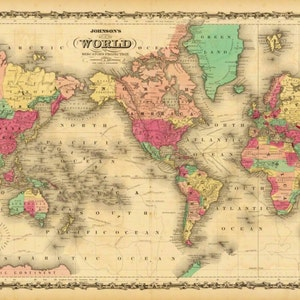 Old world map etsy vintage old world map atlas wall art canvas giclee print highest quality canvas den prints gumiabroncs Gallery