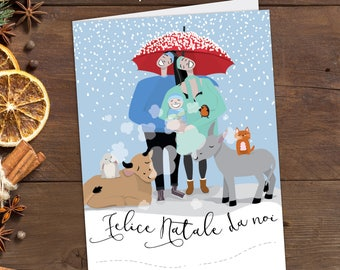christmas cards happy family, christmas italian cards printable, family christmas cards, custom christmas cards, set o2 cards