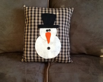 Handmade Snowman Pillow