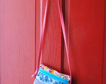 NEW Cross Body Tote Pieced Colorful Zippered Bag Purse
