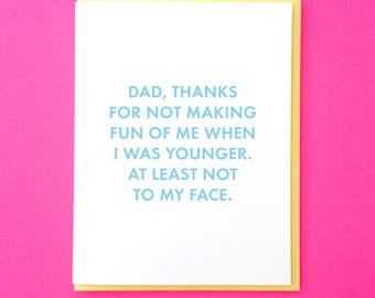 Funny Father's Day Card. Card for Dad from Daughter. Funny Dad Card. Dad Card from Son. Awkward Kid Card. Step Dad Card