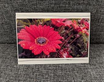 Handmade Flower Gerbera Photograph Card