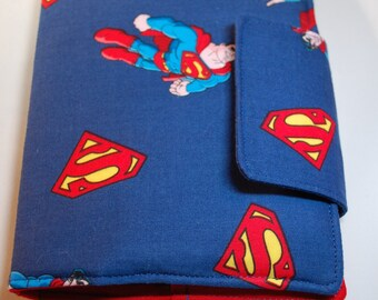Crayon Wallet made from Superman Fabric