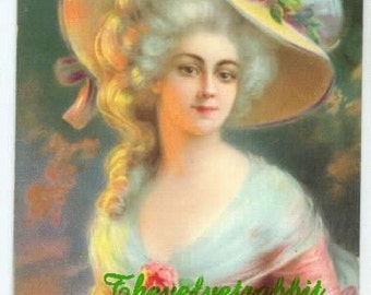 Marie Antoinette 8 x 10 inch fabric block, GORGEOUS