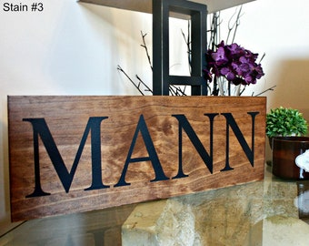 Family Name Sign. Last Name Sign. Custom Name Sign. Wedding Gift. Anniversary Gift. Housewarming Gift. Personalized Sign. Wood Name Sign.