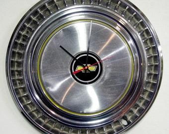 1975 - 1979 Chevrolet Blazer / Suburban / C10 Truck Hubcap Wall Clock - Chevy Bowtie Hub Cap - 1976 1977 1978