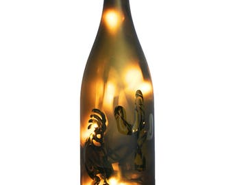 Kokopelli Wine Bottle Lamp - Wine Gift, Kokopelli Decor, Kokopelli Dancer, Wine Decor, Gift for Her, Fall Decor, Housewarming Gift, Birthday