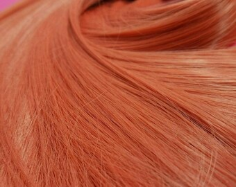 Nanaki Salmon Coral Orange Nylon Doll Hair Hank for Rerooting Barbie® Monster High® Ever After High® My Little Pony Fashion Royalty Disney