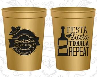 Fiesta Siesta, Tequila Repeat, Bachelorette Cup Customized, Mexican Bachelorette Cups, Bachelorette Weekend Cups, Bachelorette Cups (60004)