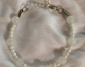 White Alabaster Bracelet