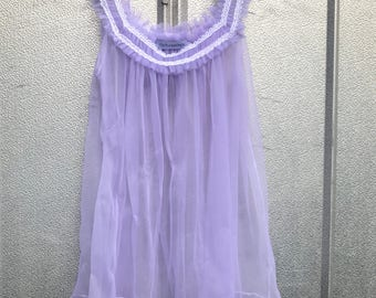 Sheer Lavender Sleeveless Blouse