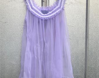 Sheer Lavender Sleeveless Blouse