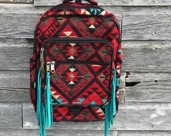 Southwestern Fringe Backpack