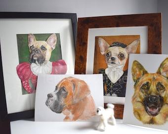 Personalised/custom oil painted 3d pet portrait (Portrait personnalisé)
