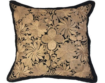 Striking Mexican Embroidery Pillow