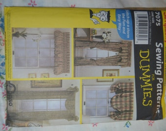 Simplicity 7075  Window treatments sewing pattern - UNCUT