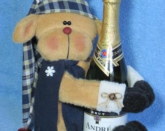 """Reindeer pattern:  """"Reindeer Wine Hugger"""" - #421"""