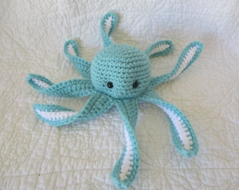 Octopus and Underwater/Sea themed newborn bib,burpie