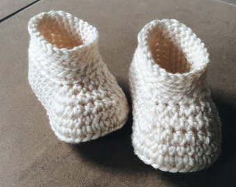 Classy Baby Booties - Ivory Baby Shoes - Slippers - baby toddler