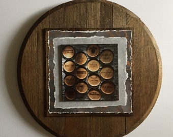 Bourbon Barrel Wooden Art