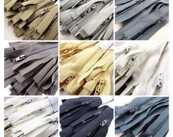 25 x Autolock No 3 Nylon Cushion Zips - 9 Colours & 6 Sizes